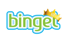 Bingel 10 jaar feestlogo