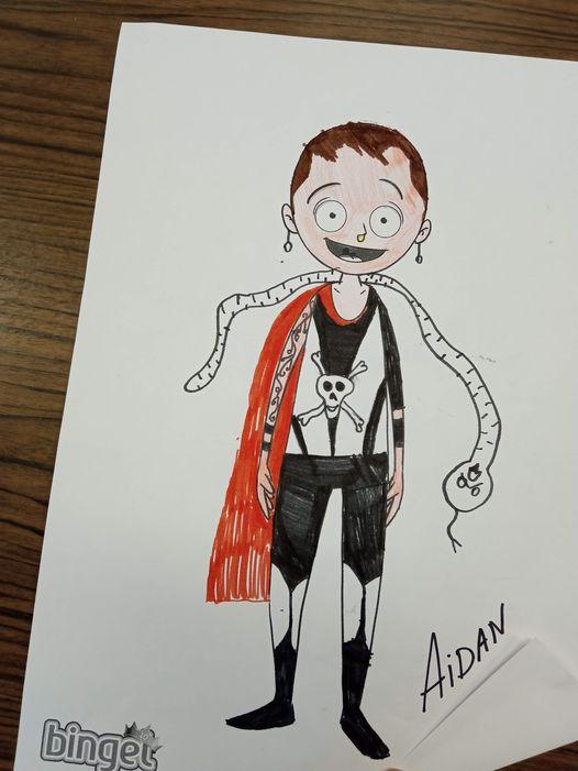 winnaar Bingel avatarwedstrijd leerjaar 2